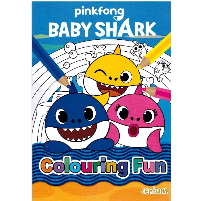 baby shark colouring book for kids