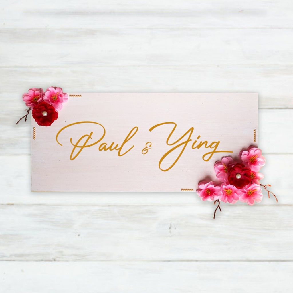 customised chinese new year decoration name plaque minimalist