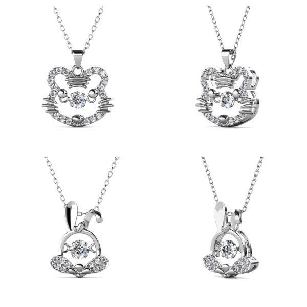 chinese zodiac 2021 rabbit silver dancing zodiac pendant